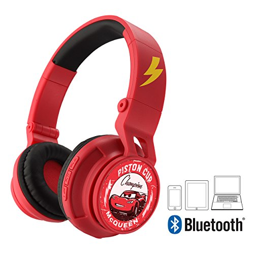 Cars 3 Bluetooth Headphones Disney Pixar Movie Wireless Kid Friendly Sound with Lightning McQueen Graphics