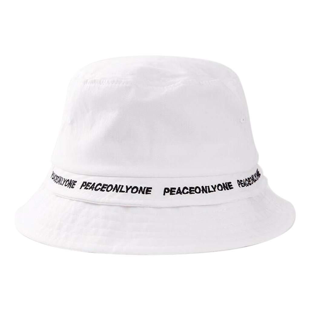 LANSKRLSP Cappello da Pescatore alla Moda con Motivo a Lettera Escursioni Pesca Gelb per Viaggi da Spiaggia Spiaggia