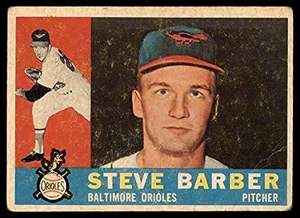 3b91afe71 Amazon.com  Baseball MLB 1960 Topps  514 Steve Barber G Good RC ...