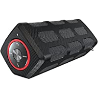Villain - Portable Water Resistant Bluetooth Speakers with 20-Hour Playtime - Stereo Pairing - 5W Superior Bass Sound - With Built-in 7000mAh Power Bank & Built-in Mic