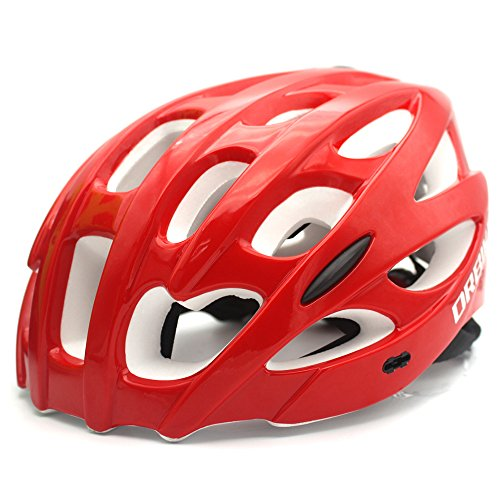 DRBIKE Mountain Bike Helmet, Red Universal Bicycle Helmet with Visor for Adult Women, Comfortable Cycling Helmet For Sale