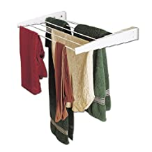 Household Essentials Wall-Mount Telescoping Indoor Clothes Drying Rack