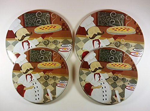 Range Kleen Burner Kovers Stove Top Covers Italian Chef Set of 4