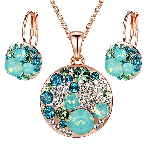 Ocean-Bubble-Multi-stone-Swarovski-Elements-Crystal-Circle-Pendant-Necklace-Earring-Jewelry-Set-18-2-Extender