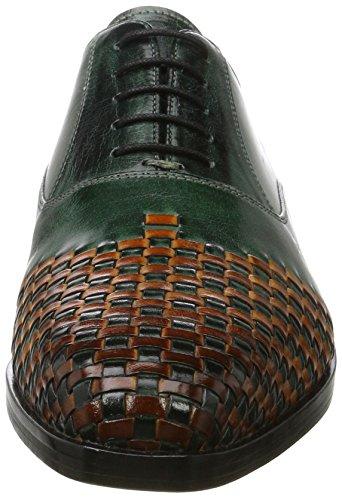 Melvin & Hamilton Lewis 17, Scarpe Stringate Oxford Uomo Verde (Classic Dk. Forest / Interlace W. Orange, Ls Blk Classic Dk. Forest / Interlace W. Orange, Ls Blk)
