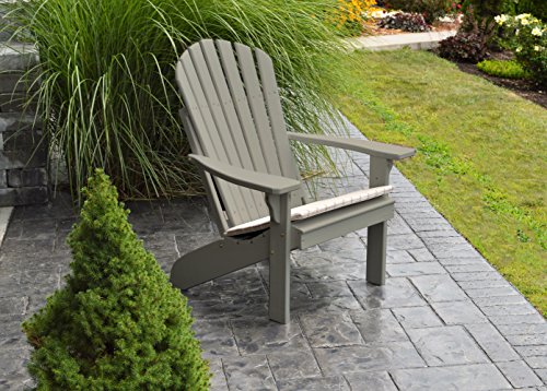 BEST ADIRONDACK CHAIR PORCH FURNITURE & PATIO SEATING, Fan Back Design & Stylish Outdoor Living, Perfect for Front Entry & Back Yard, Fire Pit & Pool Side, Fun Color Choices (Greige) (Barn Pit Fire Pottery)