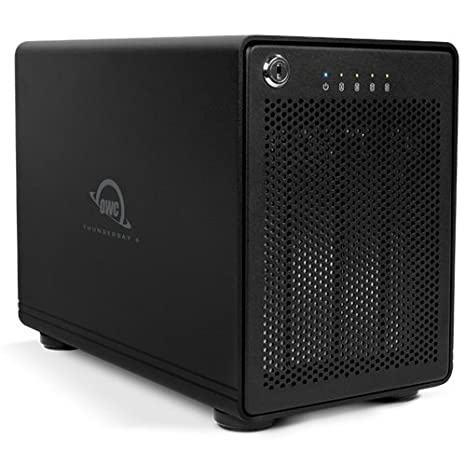 OWC ThunderBay 4 Professional-Grade Enclosure, four-bay drive enclosure with dual Thunderbolt 2 ports, RAID-ready w/cable. Add your own drives! Supports up to 6.0TB Drive per bay . Model OWCTB2IVKIT0GB