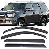 Automotive : Window Visors Fits 2010-2018 Toyota 4Runner | Dark Smoke Car Rain Sun Window Shade Guard Visor by IKON MOTORSPORTS| 2011 2012 2013 2014 2015 2016 2017