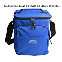 GreEco Extra Large Capacity Cooler Bag, Lunch Box Bag, Insulated Picnic Bag, Camping Cooler, Trunk Cooler, XL, Blue