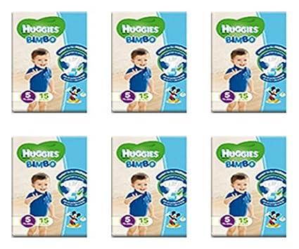 6 x Pañales para niños tamaño 5 Huggies Bebé Pañal Talla Quinta oferta