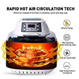 DmofwHi Air Fryer XL 8.5 QT, Digital Programmable Large Hot Air Fryer Toaster Oven 6 Preprogrammed Settings with Accessories, Viewing Window, Oilless Low-Fat Cooker