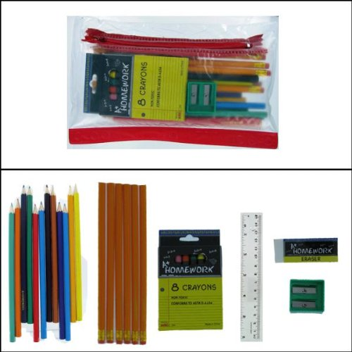Back to School Pencil Kit with Crayons Case Pack 48