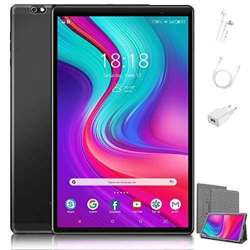 4G LTE Tablet Touchscreen 10,1 inch (25,7 cm), niet duur – Android 10.0 gecertificeerd door Google GMS, 64 GB + 128 GB…