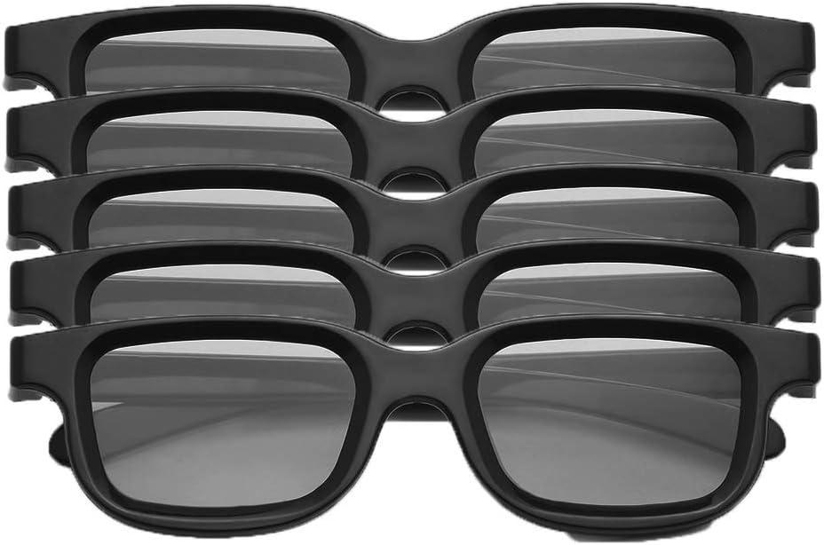 Docooler VQ163R Pack de 5 Gafas 3D pasivas polarizadas para 3D TV Cines Reales 3D para Sony Panasonic: Amazon.es: Electrónica