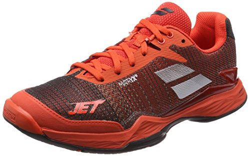 Babolat Men's Jet Match II All Court Tennis Shoes (Orange/Black) (8.5 D(M) US)