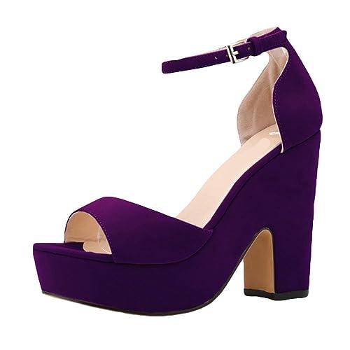 WanYang Sandalias de Cuna de Decoradas Mujer Señoras de Las Bombas de los  Zapatos de Las Cuñas de Tacón  Amazon.es  Zapatos y complementos d6a0a67f4445
