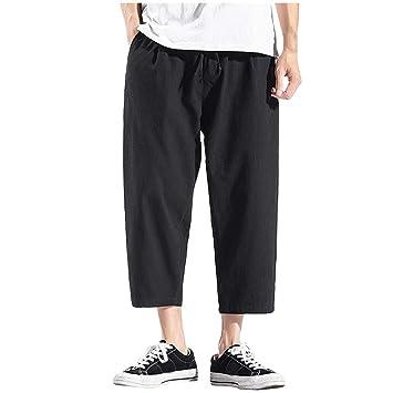 Amazon.com: Pantalones capri rectos para hombre | Pantalones ...
