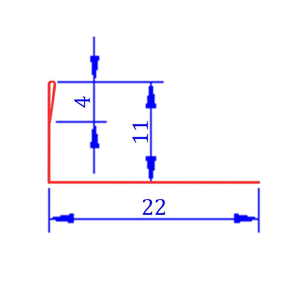 20x L-Profil Edelstahlschiene Fliesenprofil Fliesenschiene Edelstahl V2A L250cm 11mm geb/ürstet