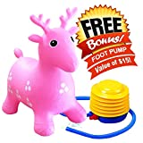 ToysOpoly Inflatable Bouncer Stool - Best for Physical Therapy, Increase Balance and Agility, Eco-Friendly + Free Foot Pump, Easy to Inflate (Pink)