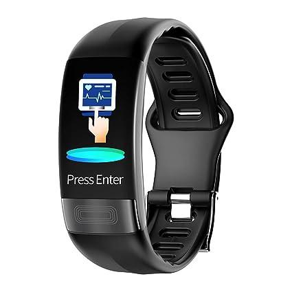 Lixada P11 ECG + HRV Pulsera Inteligente Impermeable Monitor de presión cardíaca Smartwatch Fitness Tracker Pulsera para iOS y Android Impermeable