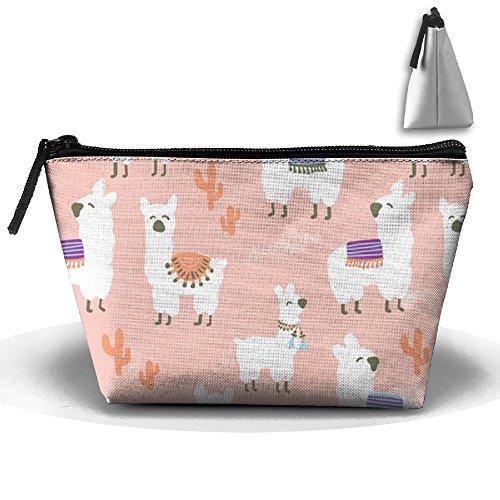SESY Alpaca Pink Hand Bag Pouch Portable Storage Bag Clutch Handbag