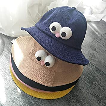 Home Three-Dimensional Small Corn Pot Cap Cartoon Corduroy Fisherman hat Children Sun hat Spring and Summer Sunscreen Baby hat Color : Black Very Soft Color : Pink