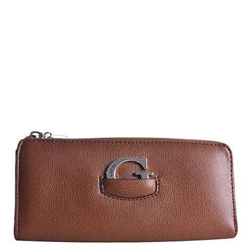 Guess - Cartera para mujer de Material Sintético Mujer marrón coñac: Amazon.es: Zapatos y complementos
