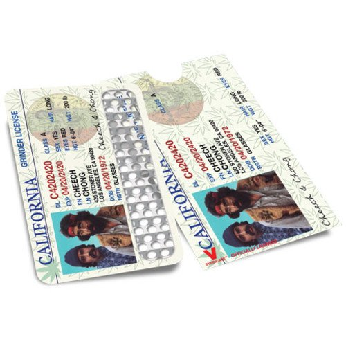 V SYNDICATE GRINDER CARD OFFICIALLY LICENSED COLLECTION CHEECH & CHONG LICENSE PACK OF 1