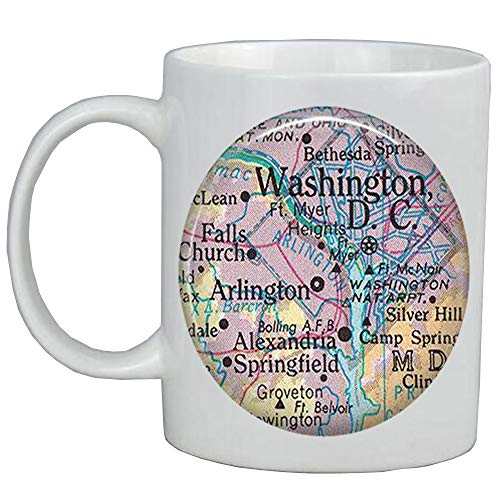Fashion Coffee Mug District of Columbia map Mug Washington DC map Coffee Mug Washington DC Coffee Mug,A0001]()