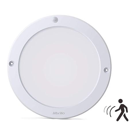 albrillo 18 W - Lámpara de techo con sensor de movimiento ...