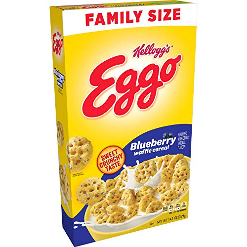 KELLOGG'S EGGO BLUEBERRY WAFFLE CEREAL 399 GR