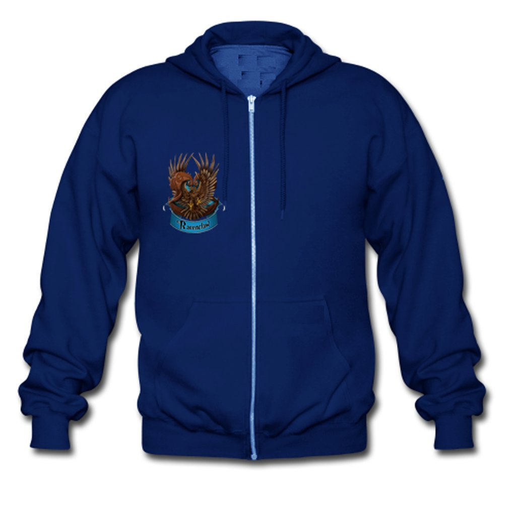b38df5f6e53 HJGBEDS Custom Boy Men Harry Potter Magic School Ravenclaw Gildan Full Zip  Hooded Sweatshirt Hoodie Coat  Amazon.co.uk  Clothing