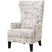 Abbey Avenue a-Mil-636AC Millie Accent Chair in, French Script