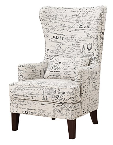 Abbey Avenue a-Mil-636AC Millie Accent Chair in, French Script by Abbey Avenue