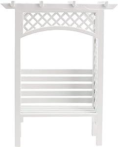 Tnfeeon 1:12 Dollhouse Mini Garden Chair Model Delicate Doll House Garden Chair Wooden Garden Decoration Accessories (White)(Garden Chair)