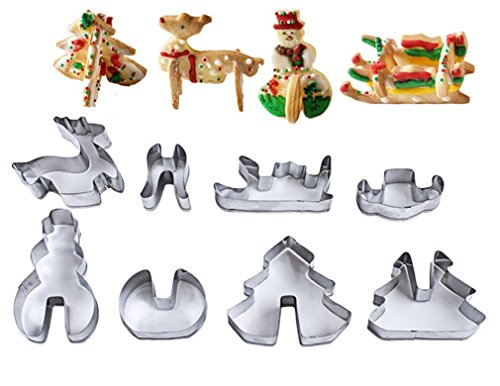 FantasyDay 3D Christmas Cookie Cutter Set Vegetable &