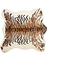 Luxe FAUX COWHIDE RUG/THROW 4 1/4X5 TIGER