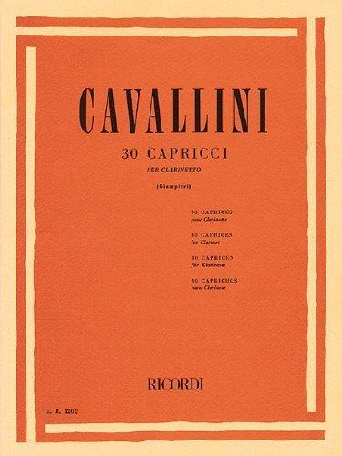30 Capriccios for Unaccompanied Clarinet (1987-06-01)