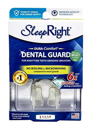 SleepRight Dura-Comfort Dental Guard – Mouth Guard To Prevent Teeth Grinding – No Boil – Super Strong – With Mint