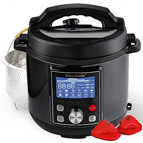 (Simfonio Electric Pressure Cooker 8Qt - Simpot 10-in-1 Steamer Pot Rice Cooker Slow Cooker Egg Cooker Multi Cooker - Stainless Steel Hot Pot with Pressure Cooker Cookbook)