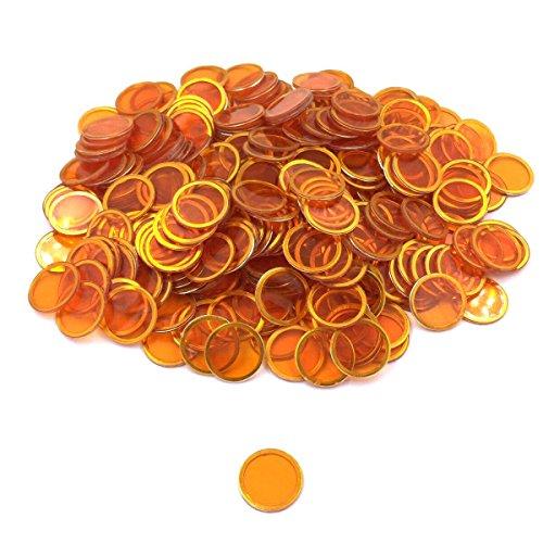 Tapp Collections Bingo Transparent Chips 300-pk - - Bingo Orange