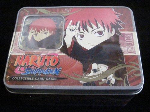 Naruto Ultimate Battle TCG CCG Collector Sasori Tin - 4 Packs - 2 Rare Cards