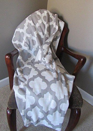 Trellis Pattern Knitted Throw Blanket