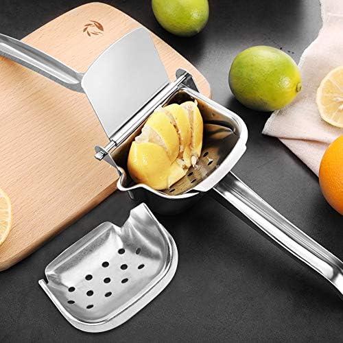 Niunion Exprimidor de limón, exprimidor de limón Manual Duradero de Acero Inoxidable, Herramienta de presión para Exprimir, Accesorios de Cocina