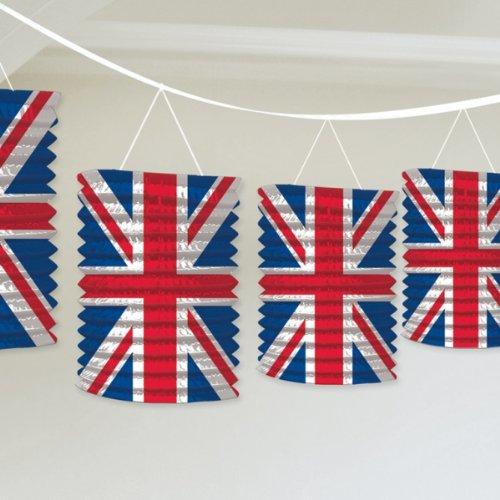 (Great Britain Union Jack Lantern Garland Decoration )