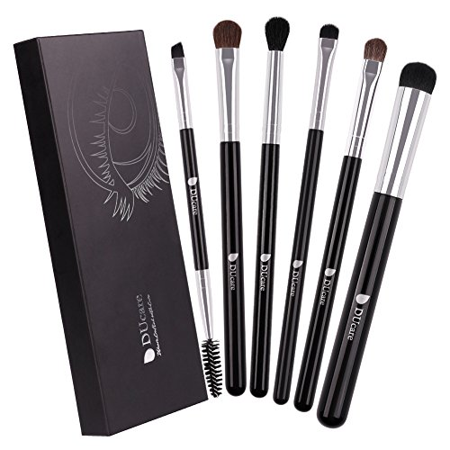 Makeup Eye Brush Set - DUcare Eyeshadow Eyeliner Blending Cease Kit - Best Choice 6 Essential Makeup Brushes-Last Longer Apply Better for Eye Shadow Make Up]()