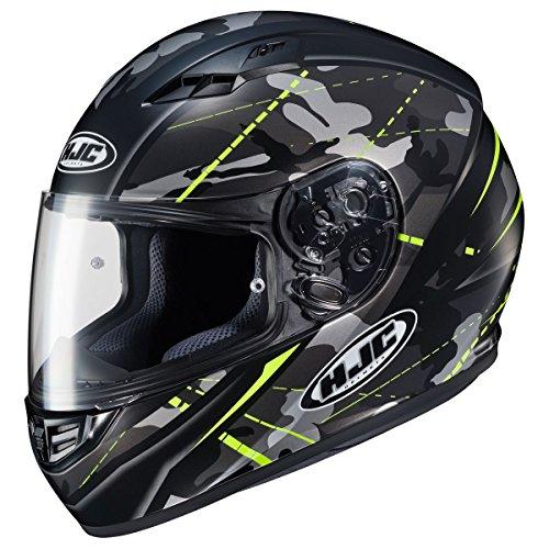 HJC Helmets CS-R3 Helmet - Songtan (MEDIUM) (BLACK/HI-VIZ YELLOW) (09 Full Face Helmet)