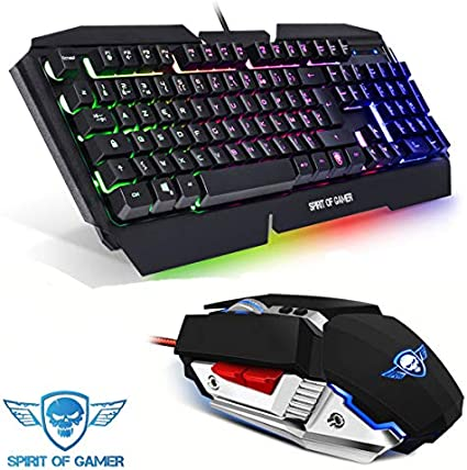 CAP WEB Pack Gamer Teclado Retro-éclairage Pro-k5 – Ratón Pro-m4 – Gaming: Amazon.es: Informática