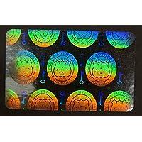 50 Hologram Shield and Key Self Stick ID Overlays, Thin .05 Mil