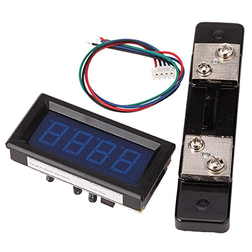 WEONE Replacement Stable 0-50A DC Bright Blue Digital Ampere Meter LED Display Ammeter With Shunt by WEONE